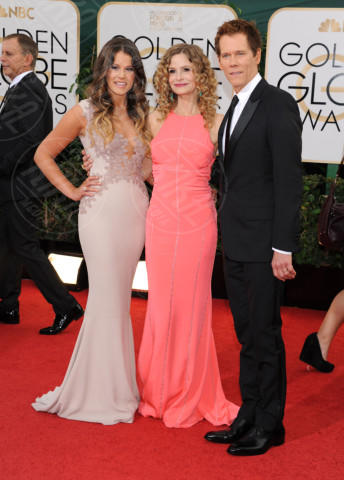 Sosie Bacon, Kevin Bacon, Kyra Sedgwick - Beverly Hills - 13-01-2014 - Golden Globe 2014: gli arrivi sul red carpet