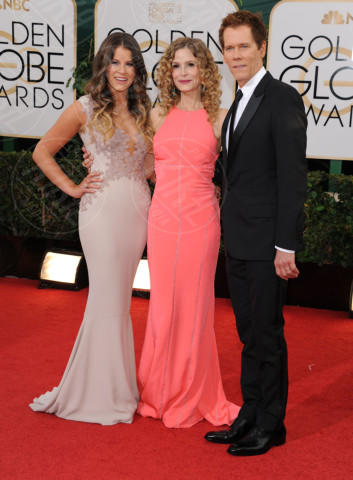 Sosie Bacon, Kevin Bacon, Kyra Sedgwick - Beverly Hills - 13-01-2014 - Golden Globe 2014: gli arrivi sul red carpet