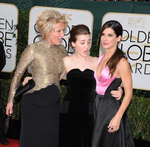 Gaia Romilly Wise, Emma Thompson, Sandra Bullock - Beverly Hills - 13-01-2014 - Golden Globe 2014: gli arrivi sul red carpet