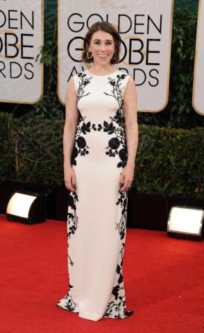 Zosia Mamet - Beverly Hills - 13-01-2014 - Bianco e nero: un classico sul tappeto rosso!