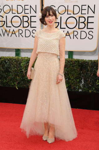 Zooey Deschanel - Beverly Hills - 13-01-2014 - Golden Globe 2014: gli arrivi sul red carpet