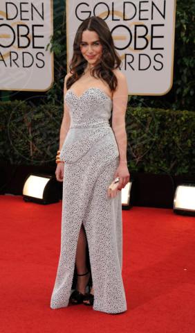 Emilia Clarke - Beverly Hills - 13-01-2014 - Golden Globe 2014: gli arrivi sul red carpet