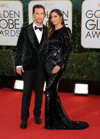 Camila Alves, Matthew McConaughey - Beverly Hills - 13-01-2014 - Golden Globe 2014: gli arrivi sul red carpet
