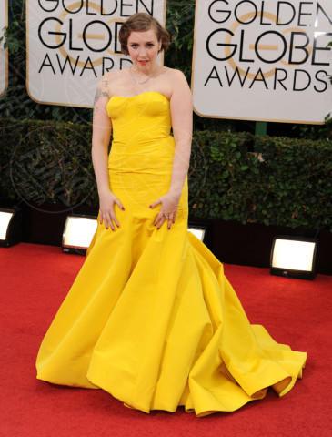 Lena Dunham - Beverly Hills - 13-01-2014 - Vade retro abito! Le scelte ai Golden Globe 2014