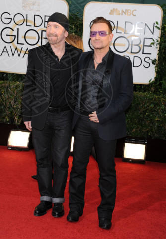 The Edge, Bono - Beverly Hills - 13-01-2014 - Golden Globe 2014: gli arrivi sul red carpet