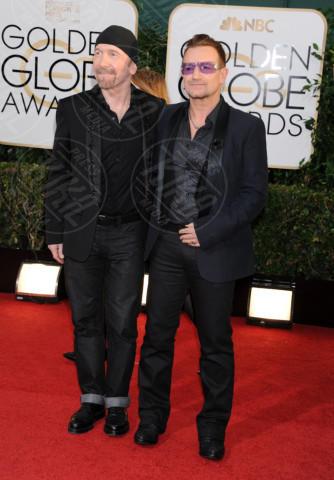 The Edge, Bono - Beverly Hills - 13-01-2014 - Golden Globe 2014: gli arrivi sul red carpet