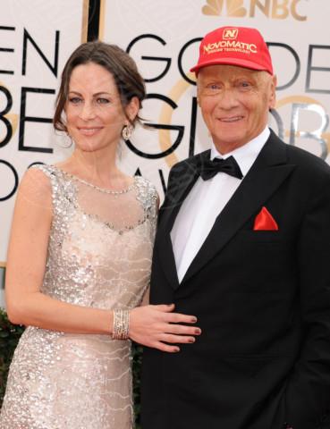 Birgit Wetzinger, Niki Lauda - Beverly Hills - 13-01-2014 - Golden Globe 2014: gli arrivi sul red carpet