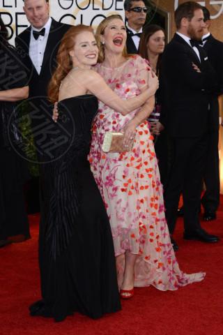 Jessica Chastain, Drew Barrymore - Beverly Hills - 12-01-2014 - Golden Globe 2014: gli arrivi sul red carpet