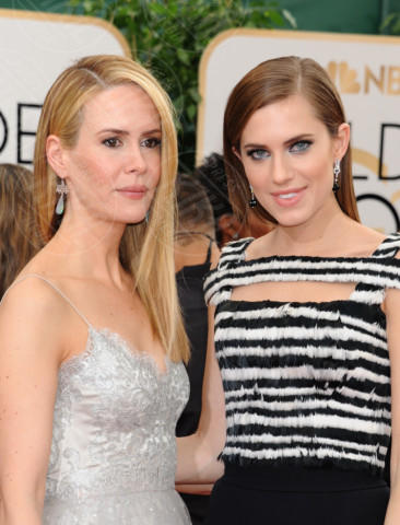 Allison Williams, Sarah Paulson - Beverly Hills - 11-01-2014 - Golden Globe 2014: gli arrivi sul red carpet