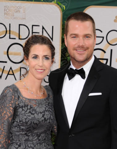 Caroline Fentress, Chris O'Donnell - Beverly Hills - 11-01-2014 - Golden Globe 2014: gli arrivi sul red carpet