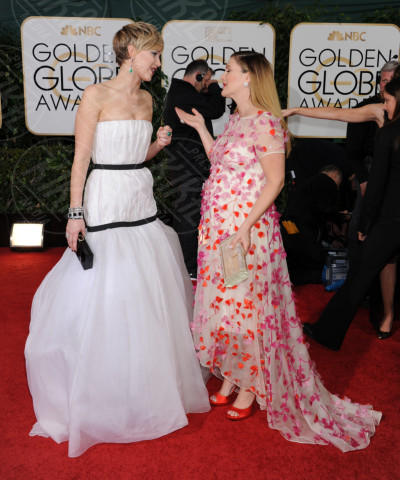 Jennifer Lawrence, Drew Barrymore - Beverly Hills - 11-01-2014 - Golden Globe 2014: gli arrivi sul red carpet