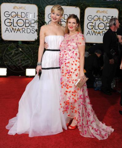 Jennifer Lawrence, Drew Barrymore - Beverly Hills - 11-01-2014 - Golden Globe 2014: gli arrivi sul red carpet