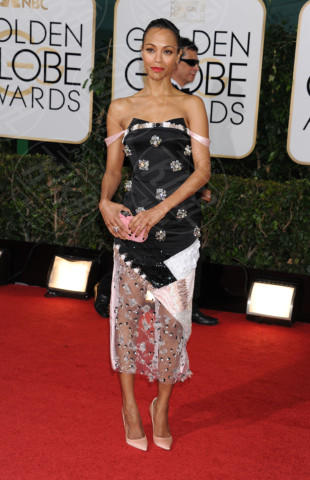 Zoe Saldana - Beverly Hills - 11-01-2014 - Golden Globe 2014: gli arrivi sul red carpet