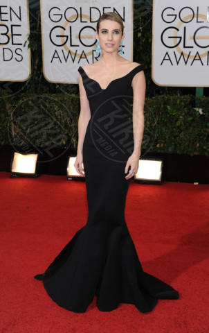 Emma Roberts - Beverly Hills - 11-01-2014 - Golden Globe 2014: gli arrivi sul red carpet