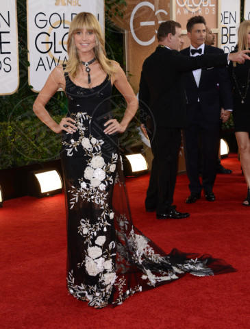 Heidi Klum - Beverly Hills - 12-01-2014 - Golden Globe 2014, il red carpet si veste retrò