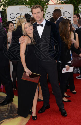 Chris Hemsworth, Elsa Pataky - Beverly Hills - 12-01-2014 - Golden Globe 2014: gli arrivi sul red carpet
