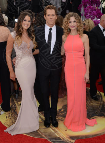 Sosie Bacon, Kevin Bacon, Kyra Sedgwick - Beverly Hills - 12-01-2014 - Golden Globe 2014: gli arrivi sul red carpet