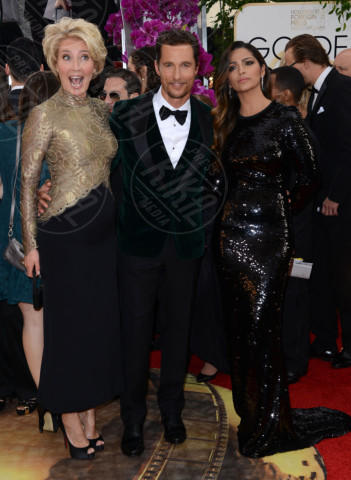 Camila Alves, Emma Thompson, Matthew McConaughey - Beverly Hills - 12-01-2014 - Golden Globe 2014: gli arrivi sul red carpet