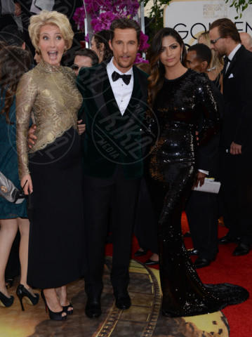 Camila Alves, Emma Thompson, Matthew McConaughey - Beverly Hills - 12-01-2014 - Golden Globe 2014: gli arrivi sul red carpet