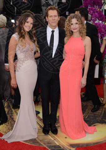Sosie Bacon, Kevin Bacon, Kyra Sedgwick - Beverly Hills - 12-01-2014 - Golden Globe 2014: gli arrivi sul red carpet