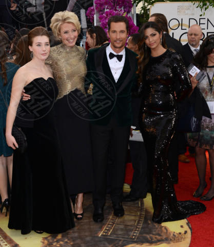 Gaia Romilly Wise, Camila Alves, Emma Thompson, Matthew McConaughey - Beverly Hills - 12-01-2014 - Golden Globe 2014: gli arrivi sul red carpet