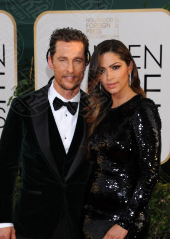 Camila Alves, Matthew McConaughey - Beverly Hills - 11-01-2014 - Golden Globe 2014: gli arrivi sul red carpet