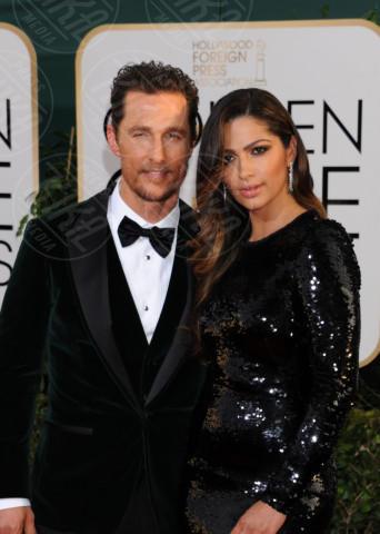 Camila Alves, Matthew McConaughey - Beverly Hills - 11-01-2014 - Golden Globe 2014: gli arrivi sul red carpet