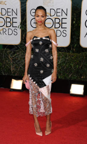 Zoe Saldana - Beverly Hills - 11-01-2014 - Golden Globe 2014, il red carpet si veste retrò