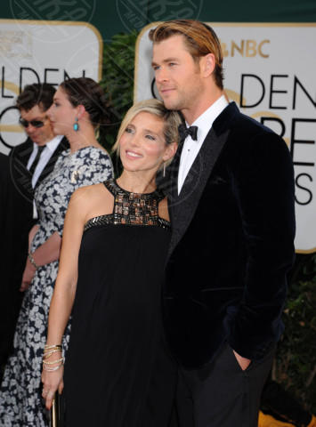 Chris Hemsworth, Elsa Pataky - Beverly Hills - 11-01-2014 - Golden Globe 2014: gli arrivi sul red carpet