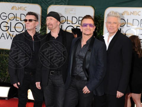 U2, Bono - Beverly Hills - 11-01-2014 - Golden Globe 2014: gli arrivi sul red carpet