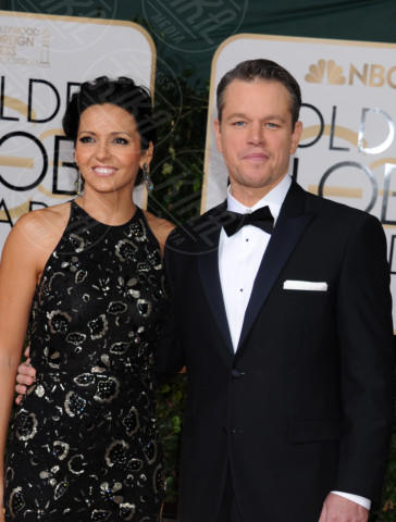 Luciana Barroso, Matt Damon - Beverly Hills - 11-01-2014 - Golden Globe 2014: gli arrivi sul red carpet