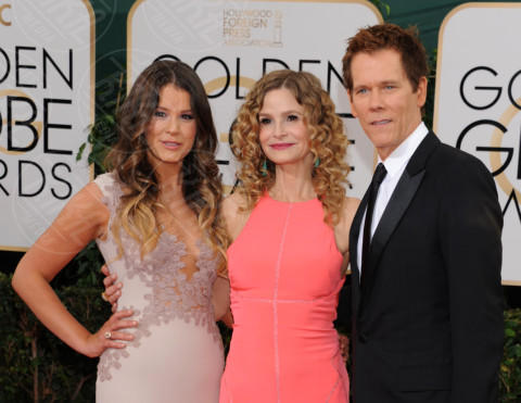 Sosie Bacon, Kevin Bacon, Kyra Sedgwick - Beverly Hills - 11-01-2014 - Golden Globe 2014: gli arrivi sul red carpet