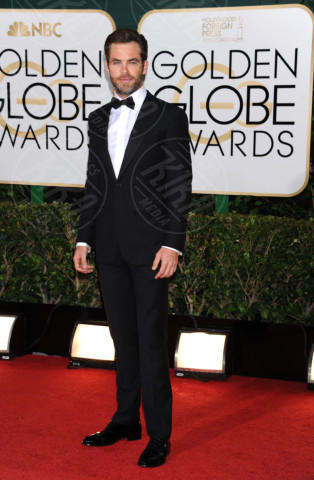 Chris Pine - Beverly Hills - 11-01-2014 - Golden Globe 2014: gli arrivi sul red carpet