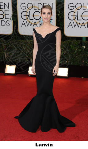 Emma Roberts - Beverly Hills - 11-01-2014 - Golden Globe 2014: gli stilisti sul red carpet