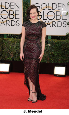 Elisabeth Moss - Beverly Hills - 11-01-2014 - Golden Globe 2014: gli stilisti sul red carpet