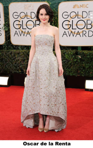 Michelle Dockery - Beverly Hills - 11-01-2014 - Golden Globe 2014: gli stilisti sul red carpet