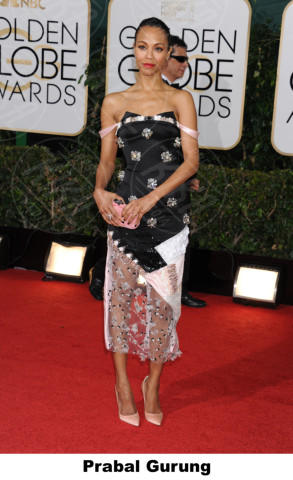 Zoe Saldana - Beverly Hills - 11-01-2014 - Golden Globe 2014: gli stilisti sul red carpet