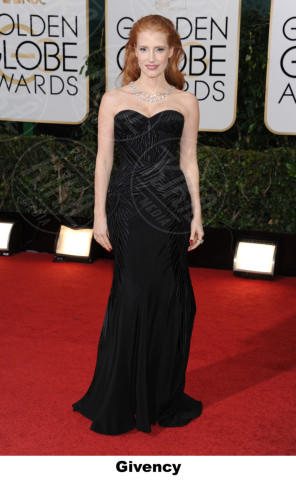 Jessica Chastain - Beverly Hills - 11-01-2014 - Golden Globe 2014, il red carpet si veste retrò