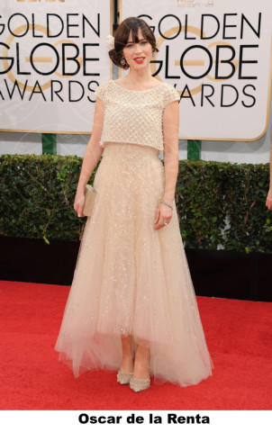Zooey Deschanel - Beverly Hills - 11-01-2014 - Golden Globe 2014: gli stilisti sul red carpet