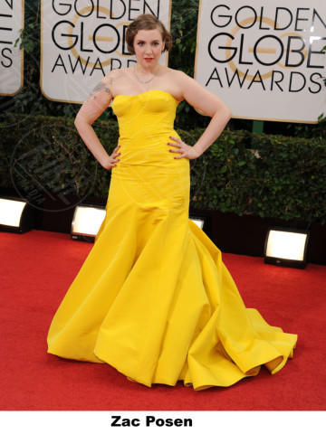 Lena Dunham - Beverly Hills - 11-01-2014 - Golden Globe 2014: gli stilisti sul red carpet