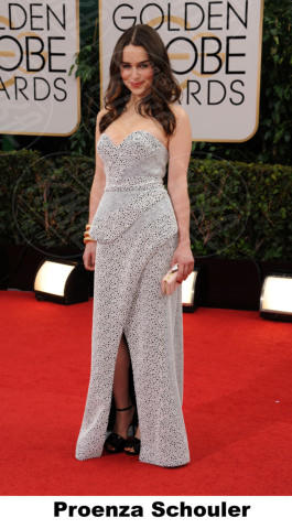 Emilia Clarke - Beverly Hills - 11-01-2014 - Golden Globe 2014: gli stilisti sul red carpet