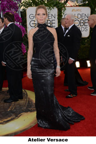 Uma Thurman - Beverly Hills - 12-01-2014 - Golden Globe 2014, il red carpet si veste retrò