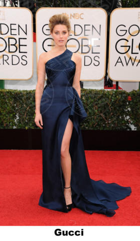 Amber Heard - Beverly Hills - 11-01-2014 - Golden Globe 2014: gli stilisti sul red carpet