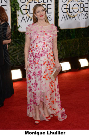 Drew Barrymore - Beverly Hills - 12-01-2014 - Golden Globe 2014: gli stilisti sul red carpet