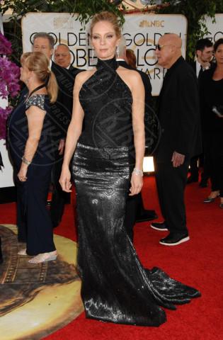 Uma Thurman - Beverly Hills - 12-01-2014 - Golden Globe 2014: gli arrivi sul red carpet
