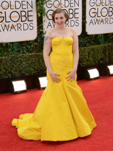 Lena Dunham - Beverly Hills - 12-01-2014 - Golden Globe 2014: gli arrivi sul red carpet