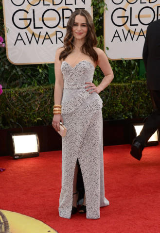 Emilia Clarke - Beverly Hills - 12-01-2014 - Golden Globe 2014: gli arrivi sul red carpet