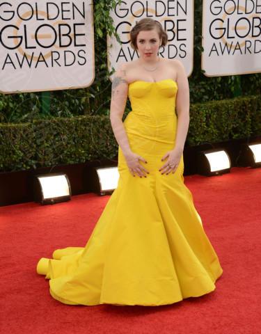 Lena Dunham - Beverly Hills - 12-01-2014 - Golden Globe 2014: gli arrivi sul red carpet