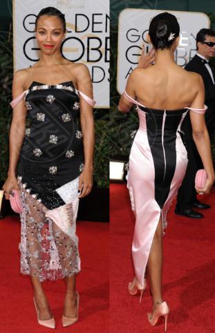 Zoe Saldana - Los Angeles - 13-01-2014 - Vade retro abito! Le scelte ai Golden Globe 2014