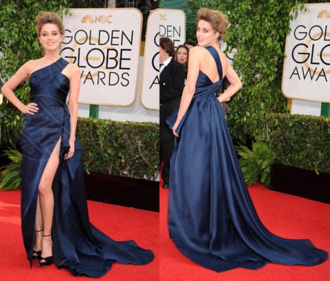 Amber Heard - Los Angeles - 13-01-2014 - Vade retro abito! Le scelte ai Golden Globe 2014